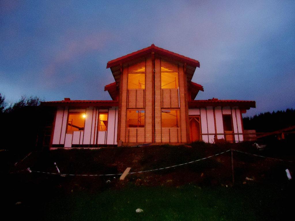 Casas de tronco macizo